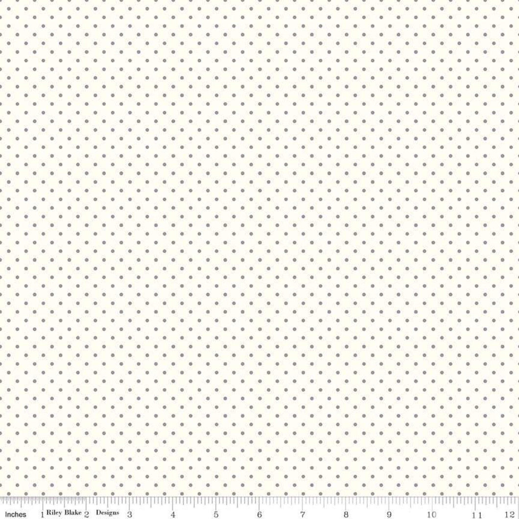 Le Creme Swiss Dot - Gray by Riley Blake Designs