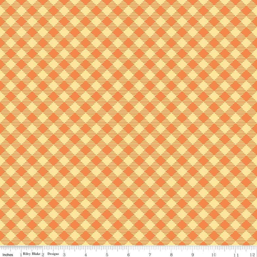 Bee Basics - Gingham Orange by Lori Holt