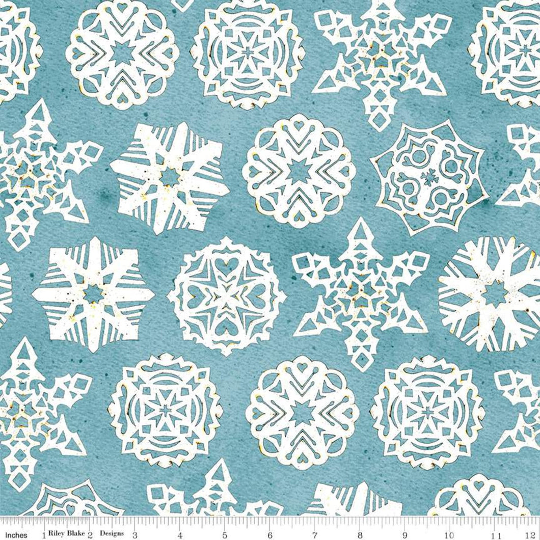Snow Sweet - Paper Snowflakes Blue by Janet Wecker Frisch