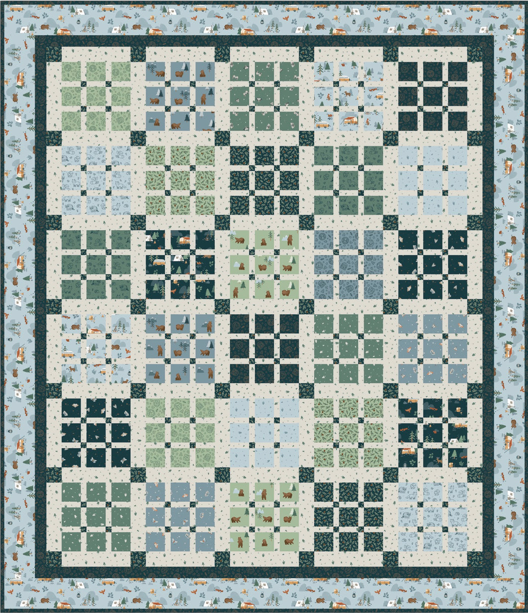 Camp Woodland Picnic Quilt Kit by Riley Blake Designs