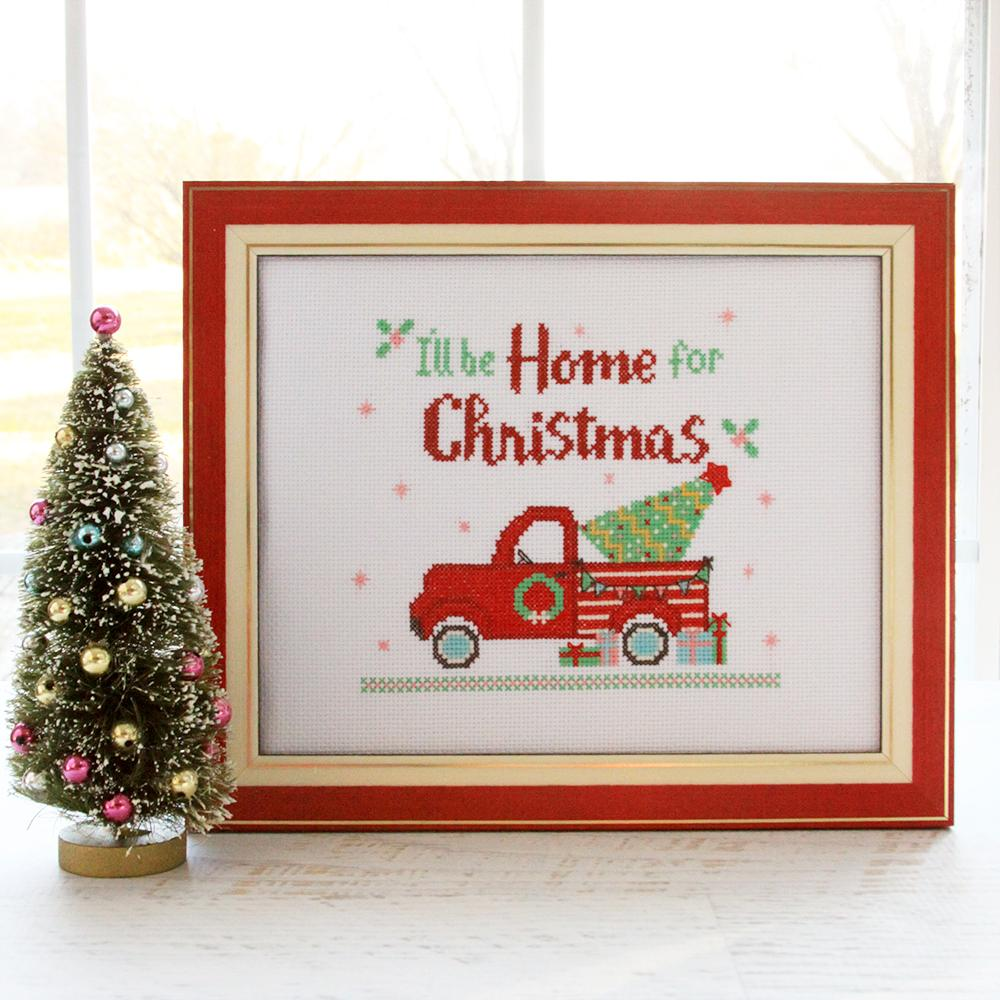 I'll Be Home for Christmas Cross Stitch Pattern by Flamingo Toes