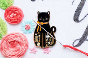 Needle Minder - Black Cat by Flamingo Toes