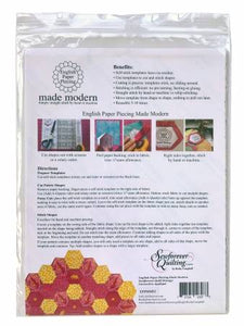 English Paper Piecing Templates - 1 inch Hexagon by English Paper Piecing Made Modern