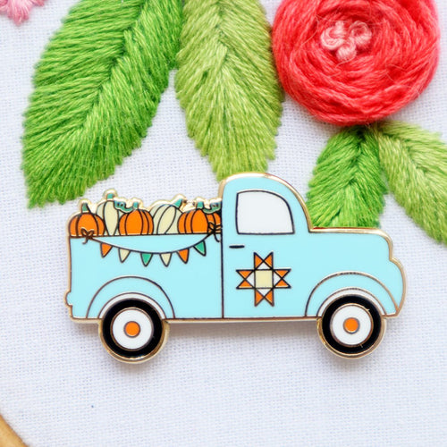 Needle Minder - Fall Pumpkin Truck by Flamingo Toes