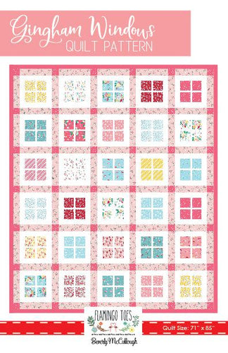 Quilt Pattern - Gingham Windows by Flamingo Toes