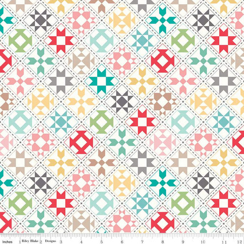 My Happy Place - Quilt Blocks Cream by Lori Holt