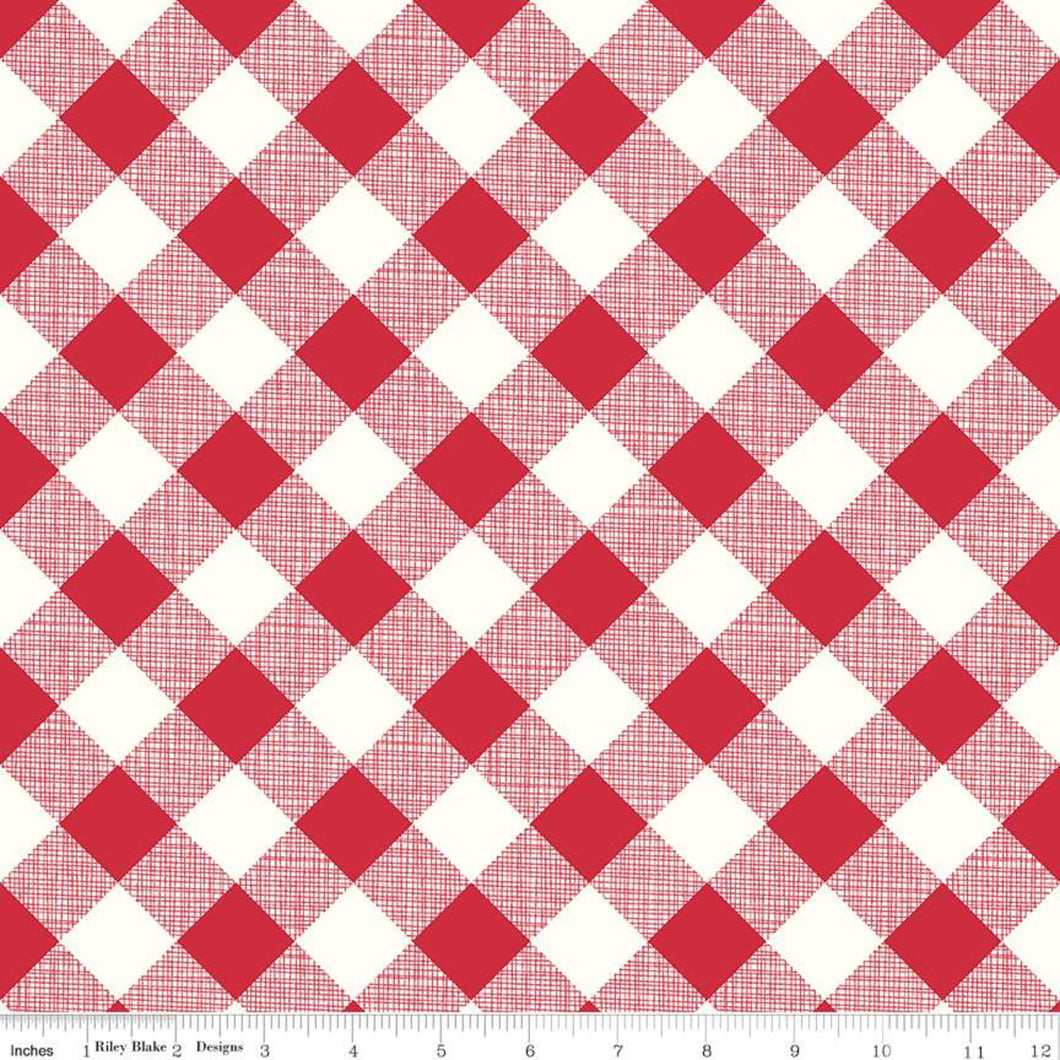 My Happy Place - Gingham Red