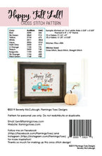 Load image into Gallery viewer, Happy Fall Y'all Cross Stitch by Flamingo Toes