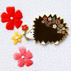 Needle Minder - Floral Hedgehog by Flamingo Toes