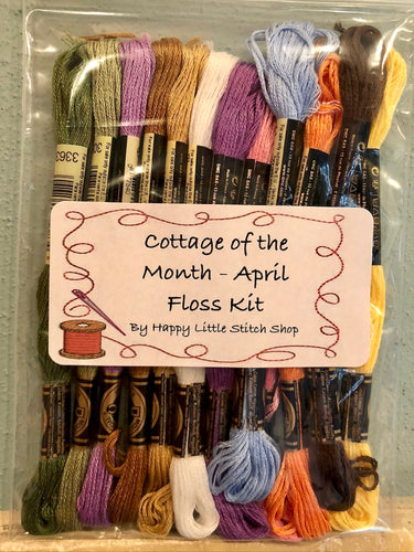 Floss Kit - Cottage of the Month - April by Country Cottage Needleworks