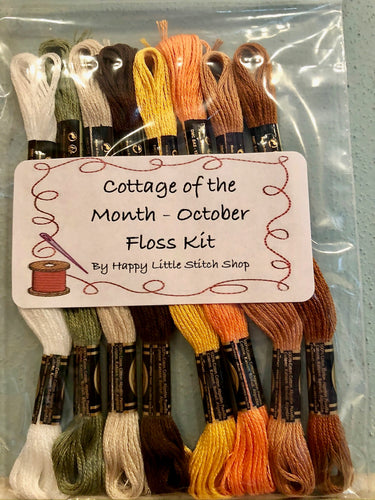 Floss Kit - Cottage of the Month - October