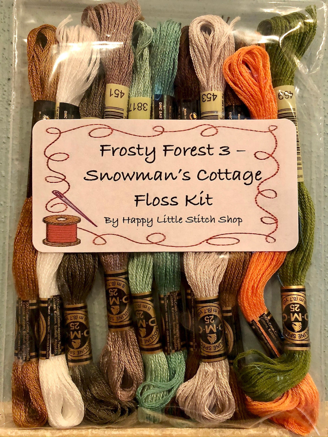 Floss Kit - Frosty Forest 3 - Snowman's Cottage