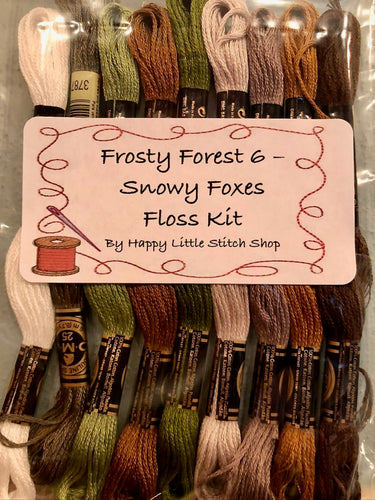 Floss Kit - Frosty Forest 6 - Snowy Foxes