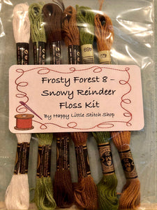 Floss Kit - Frosty Forest 8 - Snowy Reindeer