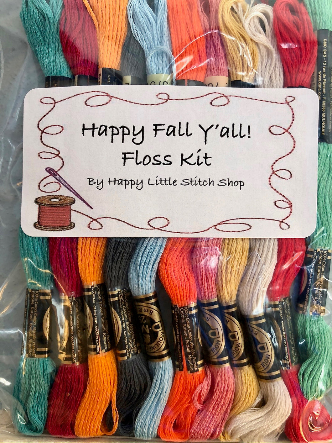 Floss Kit - Happy Fall Y'all by Flamingo Toes