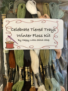 Floss Kit - Celebrate Tiered Trays Winter by Madame Chantilly