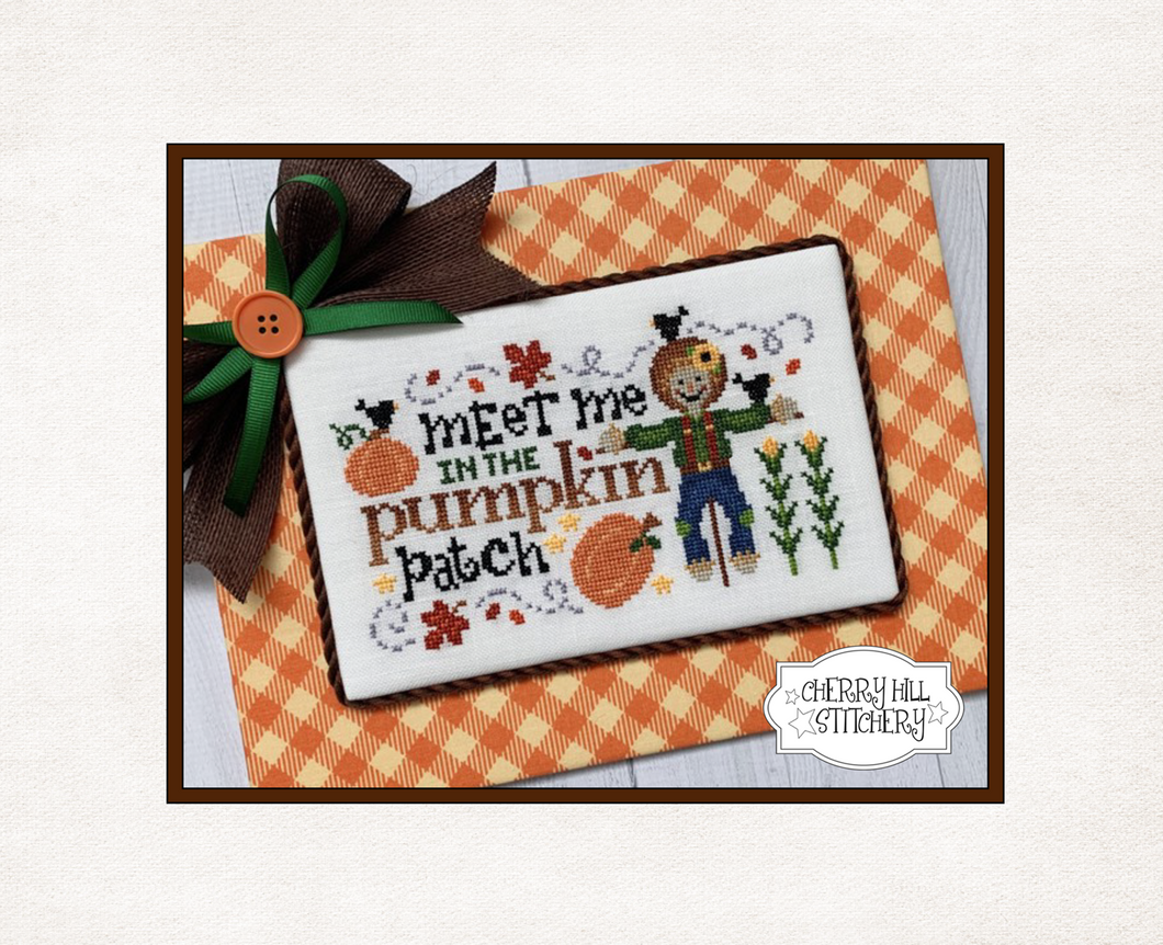 DIGITAL DOWNLOAD - In the Pumpkin Patch by Cherry Hill Stitchery