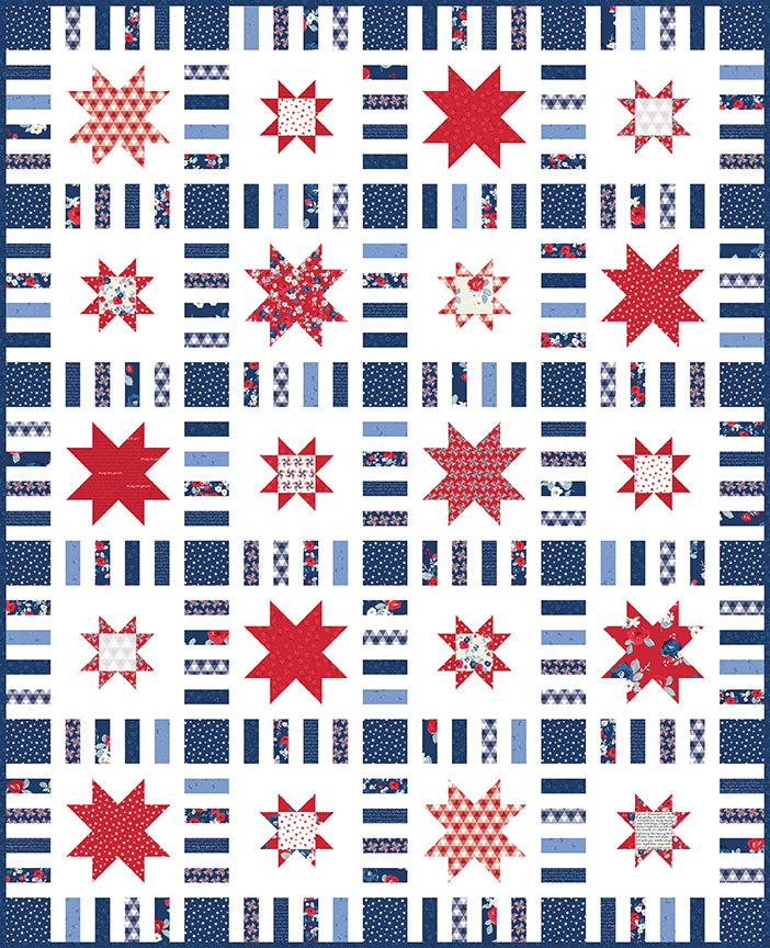 RESERVATION - Stars in Stripes Quilt Kit by Melanie Collette