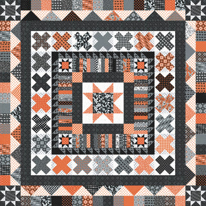 RESERVATION - Midnight Medallion Quilt Kit by April Rosenthal