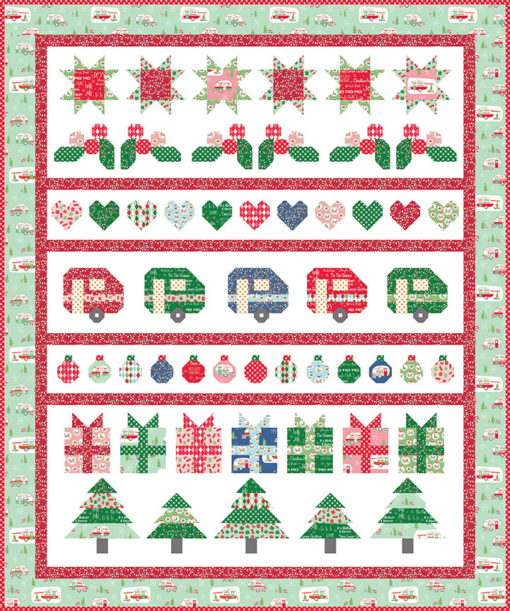 RESERVATION - Christmas Adventure Row Quilt Kit by Beverly McCullough