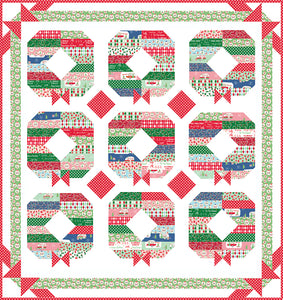RESERVATION - Holly Jolly Wreath Quilt Kit by Beverly McCullough