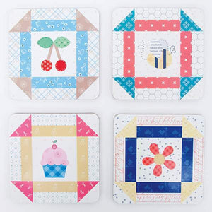 Bee Happy Coasters by Lori Holt