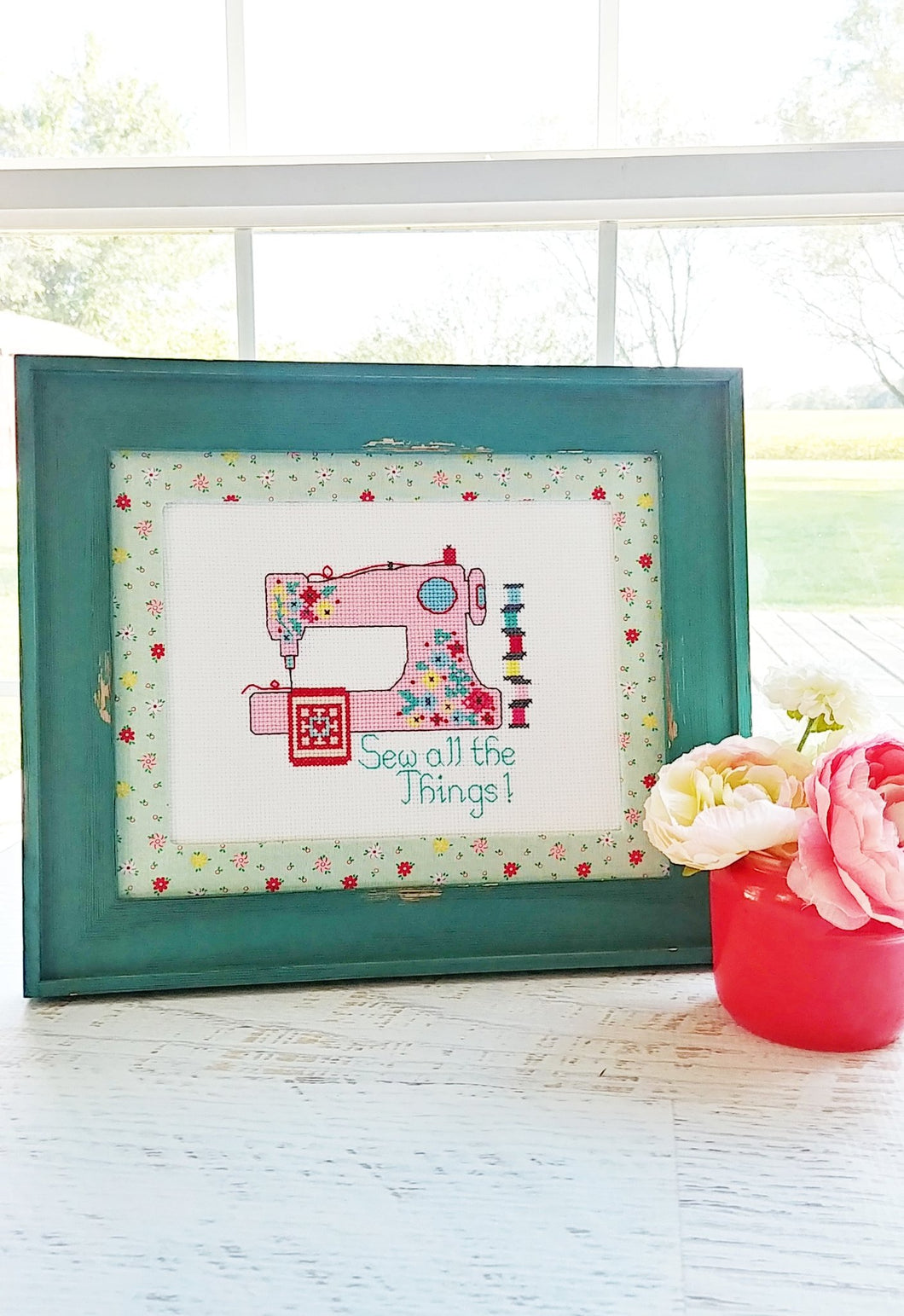 Sew All The Things Cross Stitch by Flamingo Toes