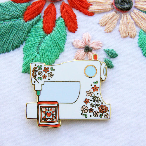 Needle Minder - Floral Sewing Machine by Flamingo Toes