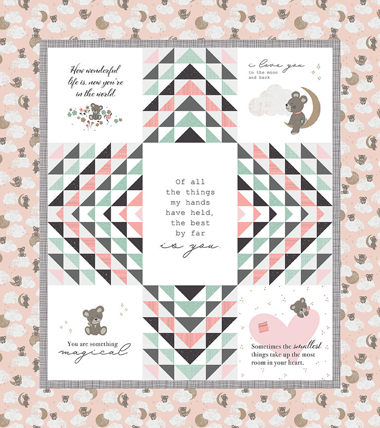 RESERVATION - Sleep Tight Quilt Kit - Pink by Gabrielle Neil