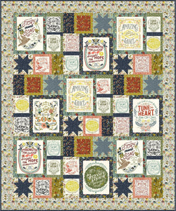 RESERVATION - Guiding Stars Quilt Kit by Fancy That Design House