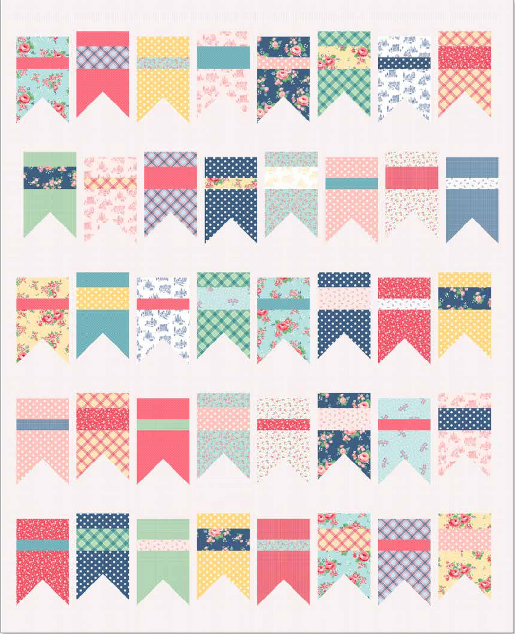 RESERVATION - Summer Bunting Quilt Kit by Amy Smart