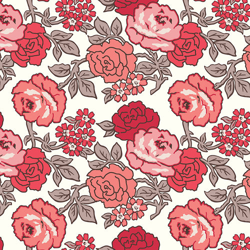 Flea Market - Roses Wideback Red by Lori Holt