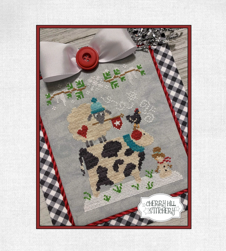 DIGITAL DOWNLOAD - Winter Barnyard Stack by Cherry Hill Stitchery