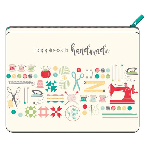 Zipper Canvas Bag - Happiness is Handmade by Lori Holt