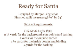 Ready for Santa Quilt Pattern by The Pattern Basket