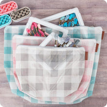 Load image into Gallery viewer, Gingham on the Go - 3 Piece Project Bag Set by It's Sew Emma