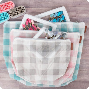Gingham on the Go - 3 Piece Project Bag Set by It's Sew Emma