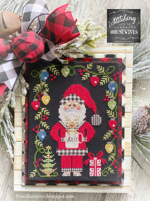 Jolly St. Nick & Rudolph by Stitching With the Housewives