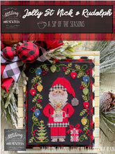 Load image into Gallery viewer, Jolly St. Nick & Rudolph by Stitching With the Housewives