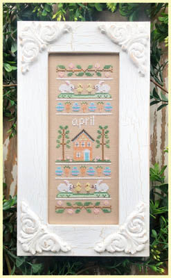 Sampler of the Month - April by Country Cottage Needleworks