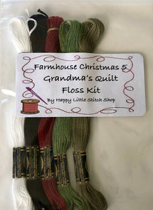 Floss Kit - Farmhouse Christmas 5 - Grandma's Quilt by Little House Needleworks