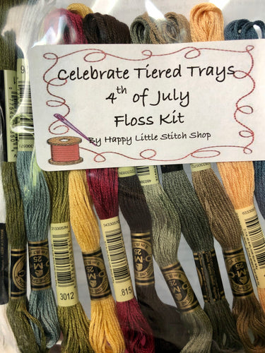 Floss Kit - Celebrate Tiered Trays 4th of July by Madame Chantilly