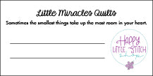 Little Miracles Quilts - NICU Charity Program - Label