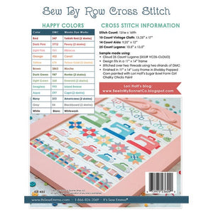 Sew By Row Cross Stitch by Lori Holt - Stitch Along RESERVATION
