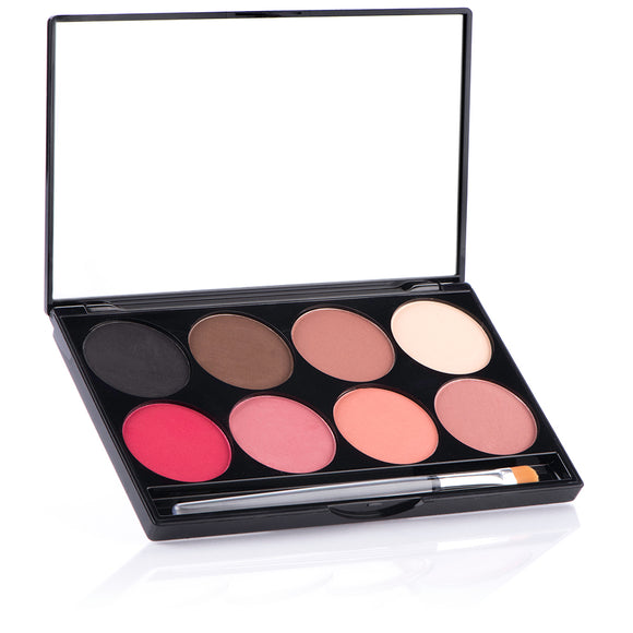 E.Y.E Powder & CHEEK Powder 8-color Palette - Mehron Canada