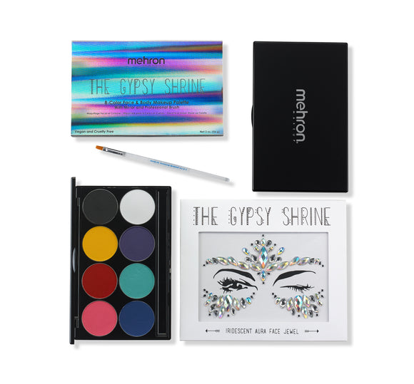 The Gypsy Shrine Face & Body Makeup Palette With Jewel Set - Mehron Canada