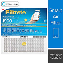 Load image into Gallery viewer, Filtrete Smart Filter MPR 1900, Allergen, Bacteria & Virus Pleated AC Furnace Air Filter, 1-Pack