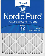 Load image into Gallery viewer, Nordic Pure 12x24x2 Merv 12 Pleated Air Filter