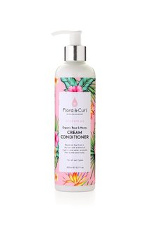 Acondicionador Rose & Honey cream conditioner 300ml FLORA & CURL