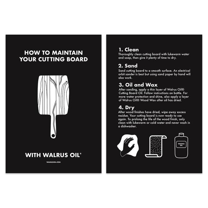 Walrus Oil Care Card